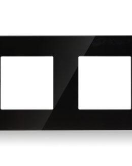 AFDEKRAAM 2-VOUDIG INBOUW GLAS ZWART